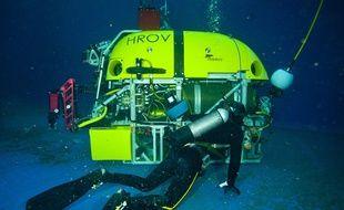 Le nouveau sous-marin de l'Ifremer, baptisé Ariane.