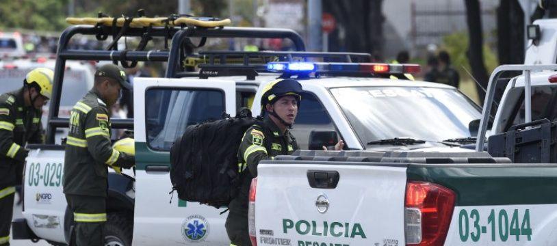 L'explosion d'une bombe dans l'école de police de Bogota, en Colombie, a fait 21 morts et une soixantaine de blessés, le 17 janvier 2019. police
