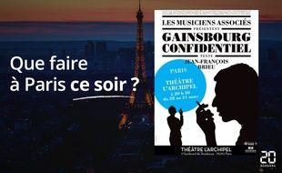 """""""Gainsbourg Confidentiel"""", au théâtre de l'Archipel."""