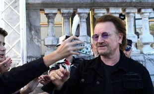 Le chanteur Bono au Festival du Film de San Sebastian