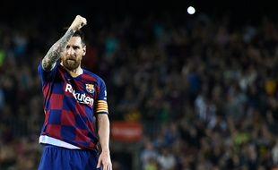 Lionel Messi célèbre son but face à Séville le 6 octobre.