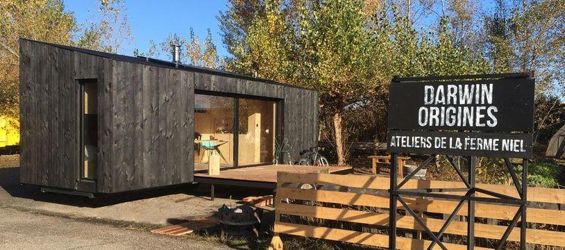 Heva est un module en ossature bois, habitable et transportable