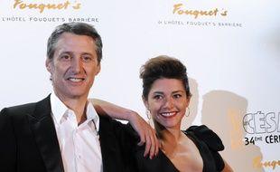 Antoine et Emma de Caunes à Paris, le 28 février 2009.