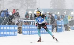 Martin Fourcade lors de la mass-start d'Ostersund, le 17 mars 2019.