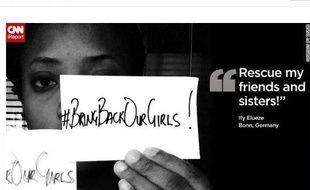 Capture d'écran du site Change.org, sur lequel une pétition invite les internautes à soutenir les recherches des adolescentes enlevées au Nigeria en avril et mai 2014.