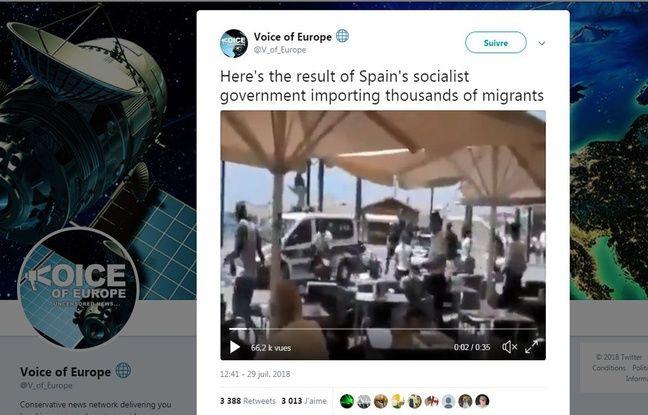 L'attaque contre le gouvernement espagnol a été reprise sur ce compte.