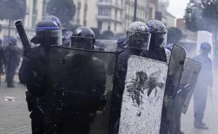 Les forces de l'ordre à Rennes, le samedi 15 février 2020.