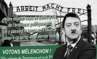 Tract anonyme diffusé contre Jean-Luc Mélenchon.