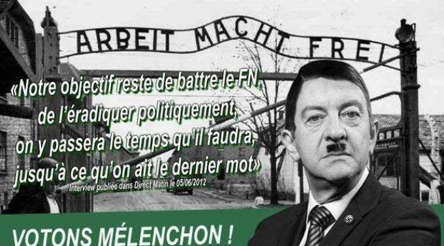 Tract anonyme diffusé contre Jean-Luc Mélenchon. – DR
