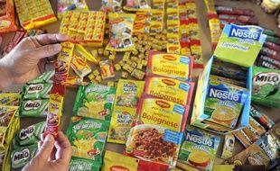 Des produits Nestlé, le 17 février 2011.