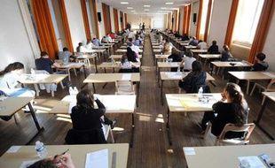 Illustration. Une salle d'examen à Nancy le jour de la première épreuve du bac 2012.
