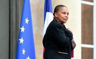 La ministre de la Justice Christiane Taubira, le 25 novembre 2015 à Paris