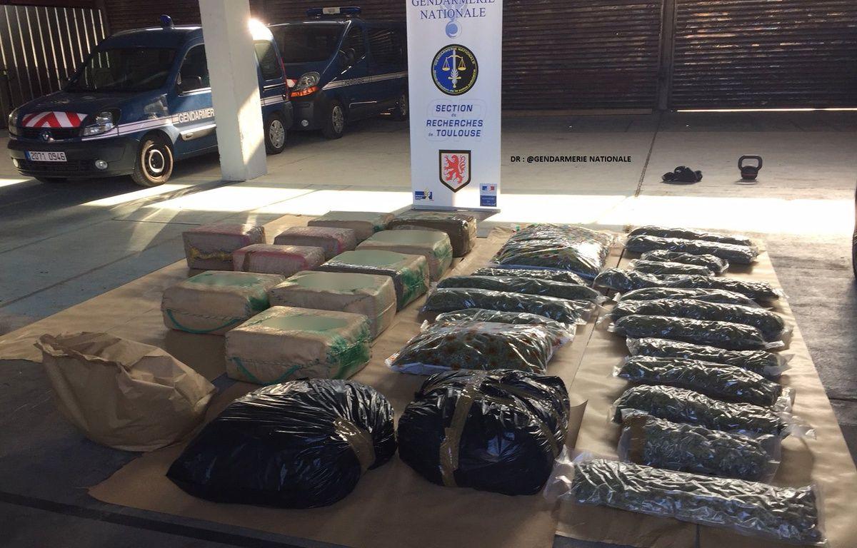 Près de 700 kg de drogue ont été saisis par les gendarmes en Haute-Garonne.  – Gendarmerie nationale