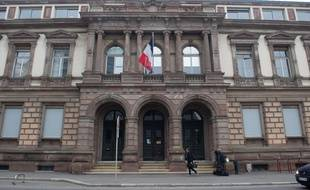 Le tribunal de grande instance de Mulhouse.