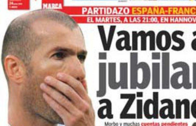 La Une de Marca sur Zidane