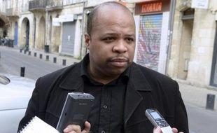 Le président du Conseil représentatif des associations noires de France (Cran), Louis-Georges Tin, ici le 9 mai 2015 à Bordeaux