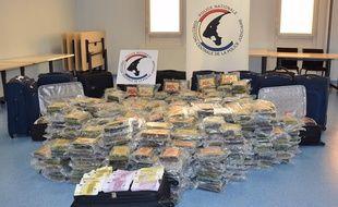 La saisie d'une tonne de cocaïne a été réalisée par l'office centrale pour le répression du trafic illicite de stupéfiants