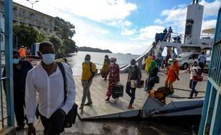 Au port de Mamoudzou, à Mayotte, le 5 juin 2020.