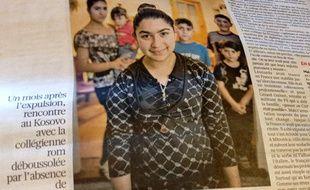Le portrait de Léonarda Dibrani dans «Libération», le 12 novembre 2013.