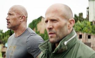 Les acteurs Dwayne Johnson et Jason Statham dans un extrait de Fast & Furious: Hobbs & Shaw