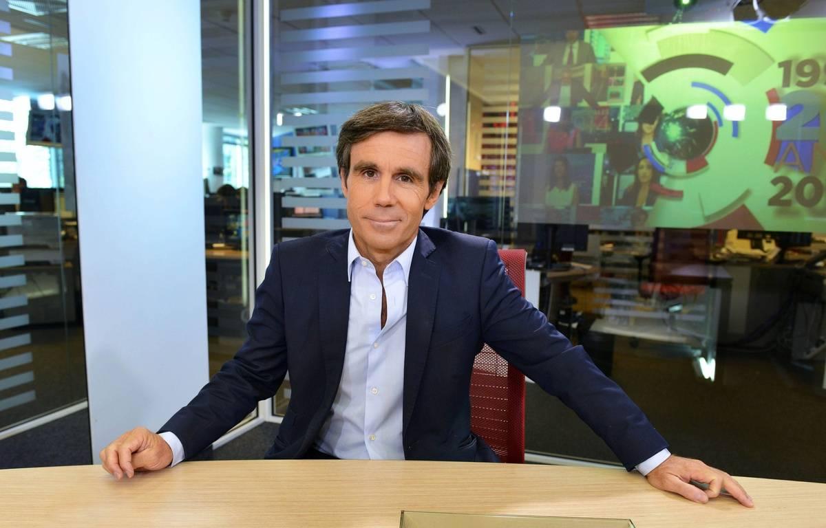 David Pujadas, présentateur vedette du 20 Heures de France 2 en 2014 – IBO/SIPA
