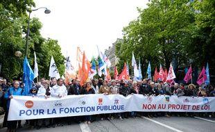 Manifestation des fonctionnaires contre la réforme de la fonction publique, le 9 mai 2019.