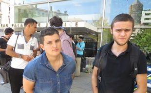 Lyon, le 8 septembre 2014 Le TGI de Lyon a condamne deux etudiants de l'universite Lyon-II a des peines de 3 et 6 mois de prison avec sursis pour des violences survenues en marge de la reforme Fioraso.