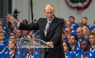 Le président exécutif d'Airbus Group Tom Enders le 14 septembre 2015 à Mobile aux Etats-Unis