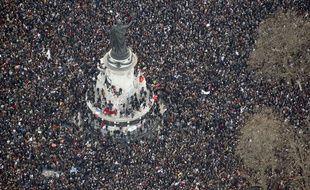La marche républicaine du 11 janvier 2015 à Paris, vue du cie