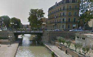 Le canal de la Robine à Narbonne.