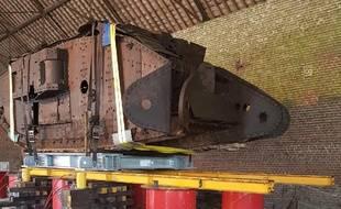 Le char allemand découvert près de Cambrai en 1998.