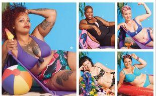 Les modèles de la campagne d'affichage du collectif féministe 52.