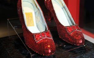 Les chaussures magiques de Dorothy, portées par Judy Garland dans Le Magicien d'Oz (1939)