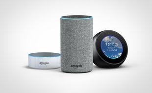 L'assistant d'Amazon Alexa et ses enceintes Echo, Echo Dot et Echo Spot seront disponibles en France le 13 juin 2018.