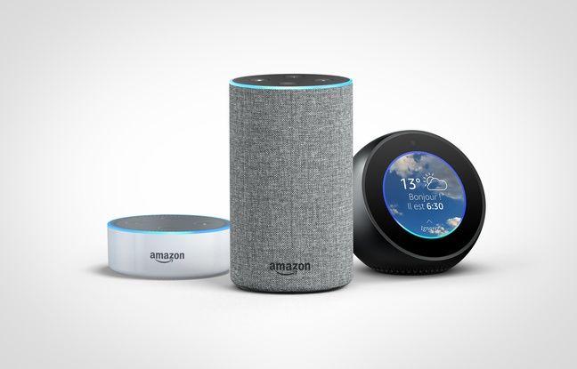 L'assistant d'Amazon Alexa et ses enceintes Echo, Echo Dot et Echo Spot, disponibles en France depuis le 13 juin 2018.