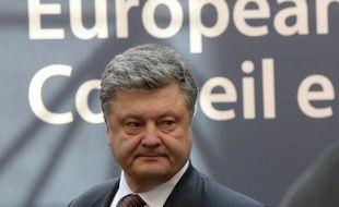 Le président ukrainien Petro Poroshenko, le 17 mars 2016 à Bruxelles