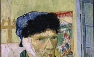 Autoportrait de Vincent Van Gogh avec l'oreille bandée
