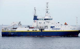 Les chercheurs de l'Ifremer ont procédé à des analyses de sédiments présents dans la rade de Brest.