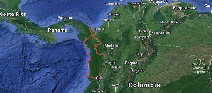 Le département du Choco (Colombie).