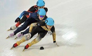 Le Japonais Kei Saito (au premier plan)  à Innsbruck, le 18 janvier 2012.