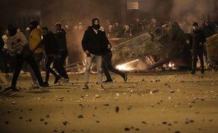 Des affrontements éclatés entre manifestations et forces de l'ordre, à Beyrouth au Liban, le 17 décembre 2019.