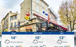 Météo Aix-en-Provence: Prévisions du mercredi 8 mai 2019