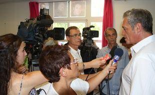 Philippe Saurel, quelques instants après l'annonce de sa candidature aux élections régionales de 2015