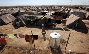 Le camp de réfugiés d'Ayden, une extension du camp d'Aliama, à 160 km au nord de Bagdad, le 27 septembre 2014