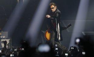 Johnny Hallyday en concert à Bercy, en novembre 2015.