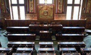 L'hémicycle du Conseil de Paris à l'hôtel de ville.