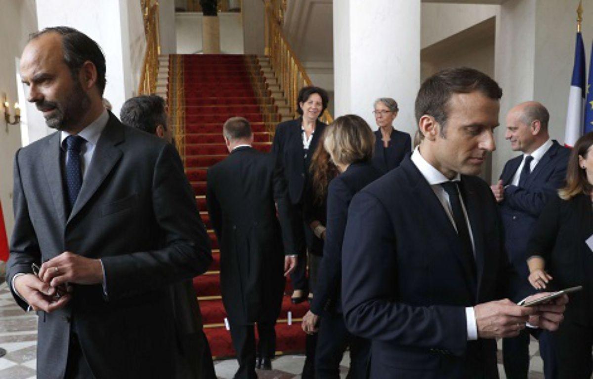 Edouard Philippe et Emmanuel Macron – Philippe Wojazer/AP/SIPA