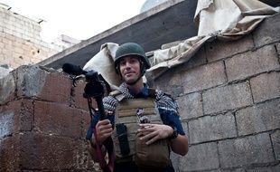 Photographie du journaliste américain James Foley prise le 5 novembre 2012 à Alep, en Syrie, et enlevé près d'Idlib le 22 novembre 2013.