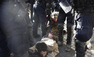 Un activiste pro-zadiste arrêté après des heurts avec les gendarmes, le 4 mars 2015 à Gaillac