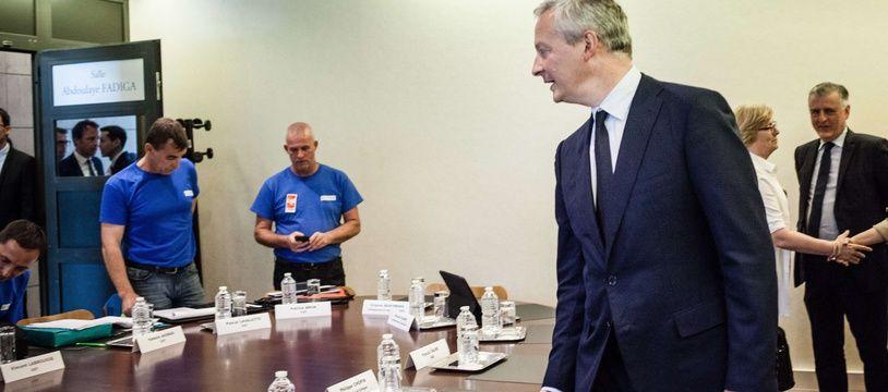 En juin 2017, Bruno Le Maire avait reçu les délégués syndicaux de GM&S à Bercy.